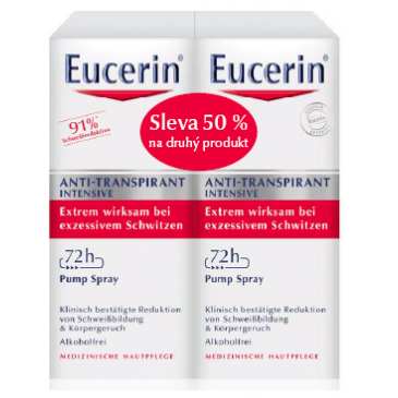 Eucerin Deo Intensive Spray 72hod. 2 x 30 ml